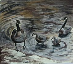 Geese in the Park via Etsy.