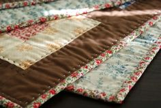 I love the hand quilting on this quilt