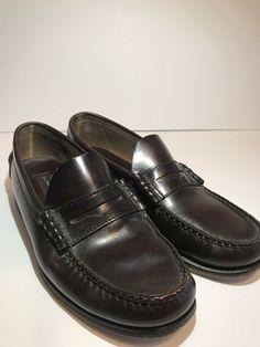 83e9cb8d04f Florsheim Penny Loafers Mens Sz 8.5D Burgundy Slip On Dress Shoes