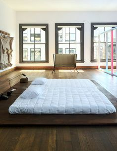 Artist Donald Judd's New York home on 101 Spring Street. Image via Designed for Life.