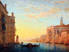 Felix Ziem (1821-1911) Venise, le grand canal.
