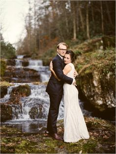This Smoky Mountain Wedding At Serenity Falls Is A Waterfall In Tennessee Destination With The Bride And Groom S Dogs