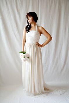 Rustic wedding dress Silk wedding dress Boho by AliceCloset