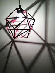 Geometric Pendant Light via Etsy