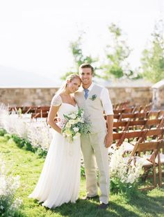 If there's one thing we can learn from this outdoor affair, it's a lesson in the beauty of natural light. And with every sun-soaked image from Leo Patrone more beautiful than the last, it's pretty much a wedding lover's dream-come-true. Cute Wedding Ideas, Perfect Wedding, Wedding Styles, Wedding Inspiration, Groom Outfit, Groom Attire, Groom And Groomsmen, Summer Wedding, Our Wedding
