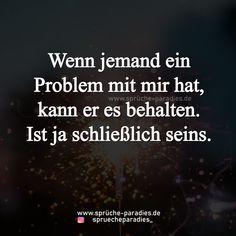Wenn jemand ein Problem..