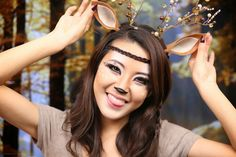 Deer costume make up | Deer Makeup Tutorial | Halloween 2013