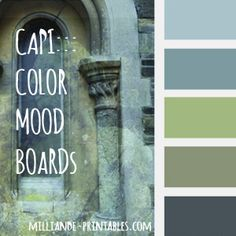 CAPI Color Palettes at www.milliande-printables.com/capi-color-palettes.html Color Moodboards for Artists and Graphic Designers and anyone wishing to design a colorscheme, free to print