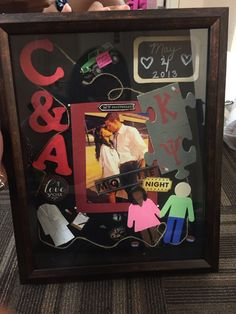 Made this shadow box for my 2 year anniversary for my boyfriend it was fun and easy to do! Thanks to Michaels :)