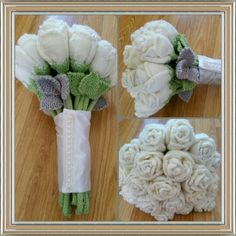 Knitted Wedding Bouquet
