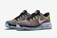 nike womens flyknit air max multi color