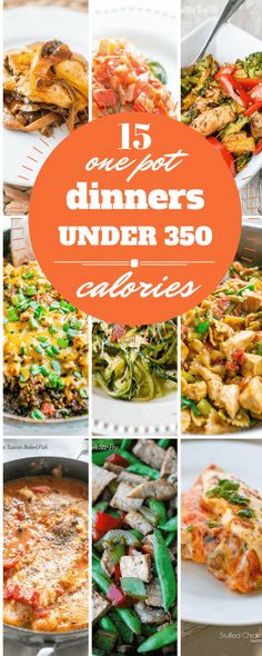 15 one pot dinners under 350 calories - rich, comforting, and easy meals that are family pleasers that won't derail your diet! 15 one pot dinners under 350 calories - rich, comforting, and easy meals that are family pleasers that won't derail your diet! 300 Calorie Dinner, Dinner Under 300 Calories, Low Calorie Dinners, No Calorie Foods, Low Calorie Recipes, Diet Recipes, Under 300 Calorie Meals, Low Calories, Lowest Calorie Meals