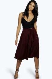 Marley Tie Waist Box Pleat Midi Skirt alternative image