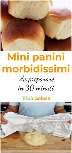 Why not prepare some soft and very soft? With this recipe, it will only take you 30 minutes Mini Sandwiches, I Love Food, Good Food, Yummy Food, Biscotti, Focaccia Pizza, Just Cooking, Sweet And Salty, Mini Panini