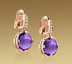 Bvlgari Jewelry 18 Ct Pink Gold, Amethyst, Pave Diamonds 2013 collection