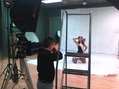 During the photoshoot for the 2013 Heartland Swing Pinup Calendar