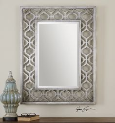 Exceptionnel Uttermost Sorbolo Mirror. Frame Features A Decorative Design Finished In  Antiqued Silver Leaf With Black