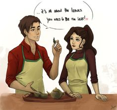 I kind of want to ship Iroh and Asami even though it would be weird.....Sort of.....
