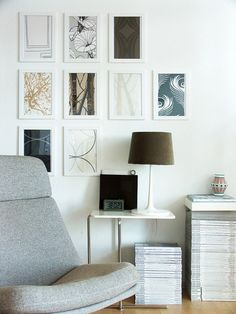 I have done this and love it.  Frame Wallpaper, or contact paper to create cool frames on your wall.