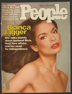 vintage magazine covers | 1977 People Magazine Cover ~ Bianca Jagger, Vintage Magazine Covers