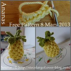 Free pineapple pattern. Could also do circles to match like slices! :) Cady would love this for her kitchen!