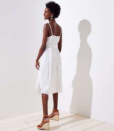 Polka Dot Strappy Dress | LOFT