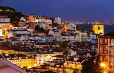 Lisbon old town at night, Portugal Places Around The World, Around The Worlds, Spain And Portugal, Hotels And Resorts, Vacation Spots, Travel Pictures, Places To See, The Good Place, Beautiful Places