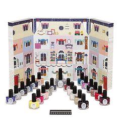 Forget the chocolate advent calendar!  CIATE Mini Mani Manor nail polish advent calendar