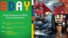 THE ADVENTURES OF TEAM DANGER: Captain Ryan's LEGO Pirates of the Caribbean Party