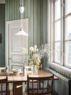 Behang – Fiore – Hooked On Walls Home Interior, Interior Styling, Interior And Exterior, Interior Decorating, Scandinavian Cottage, Scandinavian Style, Ideas Hogar, Dining Nook, Interiores Design