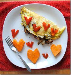 Paleo Heart Omelette #Valentine's