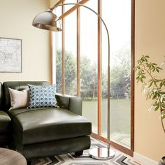 Shop for Carson Carrington Egersund Chrome Arc Floor Lamp. Get free delivery On EVERYTHING* Overstock - Your Online Lamps & Lamp Shades Store! Mid Century Modern Living Room, Mid Century Decor, Mid Century Furniture, Living Room Modern, Home Living Room, Arc Floor Lamps, Modern Floor Lamps, Arc Lamp, Home Modern
