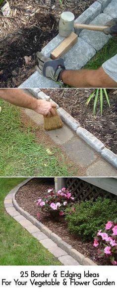 Inspirational Vegetable Garden Edging Ideas