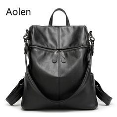 Aolen Small Backpack Leather Women Bag Backpack Bags For School Middle Girls Children Female Cute Teenagers Backbag Woman