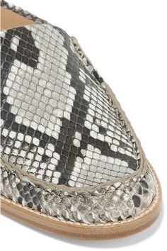Gabriela Hearst - Kate Python Slippers - Snake print - IT39.5