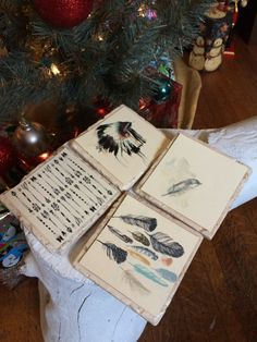 """Set of 4, 4"""" x 4"""" Native Inspired stone tile coasters, perfect for gifts for all occasions! by KickingRoxx on Etsy"""