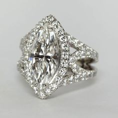 Stunning Marquise Diamond RIng from Oliver Smith Jeweler.
