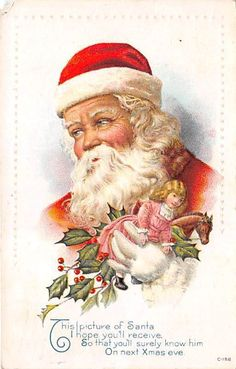 Lot of 13 Early Christmas Postcards Fantasy Santa Angels Greetings XB6896 | eBay