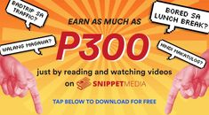Earn as much as just by reading and watching videos on SnippetMEdia. Coding, App, Videos, Apps, Video Clip, Programming