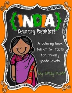 India Booklet (A Country Study!) -- Use during social studies units about countries around the world! TeachersPayTeachers