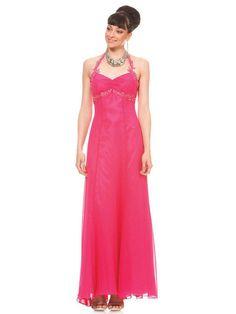 Embroidered Sequined Halter Strap Sweetheart Neckline Full Length Evening Dresses