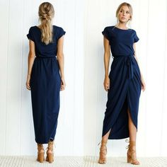 Love this style and the navy!