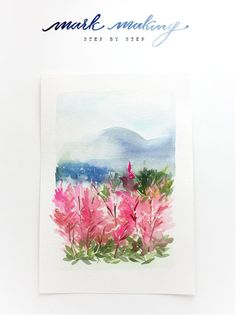 Watercolor Tutorial Part 3: Mark Making.  Are you all ready to take your water color to the next level?! This is part 3 of Yao's amazing Watercolor Tutorial series! If you need to catch up check out Watercolor Tutorial pt 1: Basics & Supplies and Watercolor Tutorial Part 2: Blending.