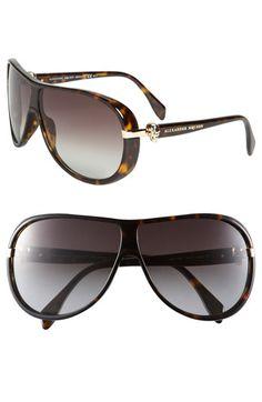 Alexander McQueen Skull Temple Aviator Sunglasses available at #Nordstrom