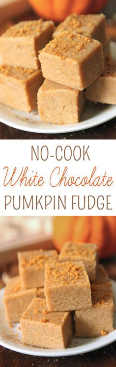 This quick and easy white chocolate pumpkin fudge only takes a few minutes to make and is made in the microwave.