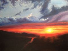 "Chimney Rock Sunrise, oil on canvas, 14"" x 18"", 2014, $95 unframed."
