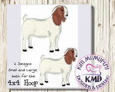 The Design Files, My Design, Boer Goats, Embroidery Digitizing, Machine Embroidery Designs, 4x4, Quilting, Etsy Shop, Stitch