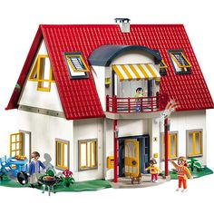 Playmobil Suburban House and thousands more of the very best toys at Fat Brain Toys. The Playmobil Suburban House is the perfect first dollhouse! Play Mobile, Toddler Toys, Kids Toys, Super Cool Stuff, Suburban House, Dogs And Kids, Toy Store, New Toys, Vestidos