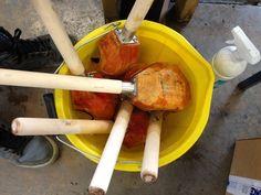 Glass blowing wood tools - blocks