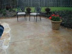 how to stain a concrete patio - Patio Concrete Stain Ideas